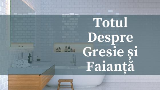 Gresie și faianță modernă pentru o baie ca în reviste